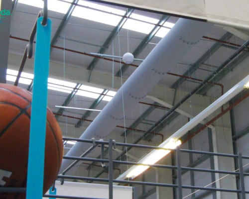 large spaces fabric ducting