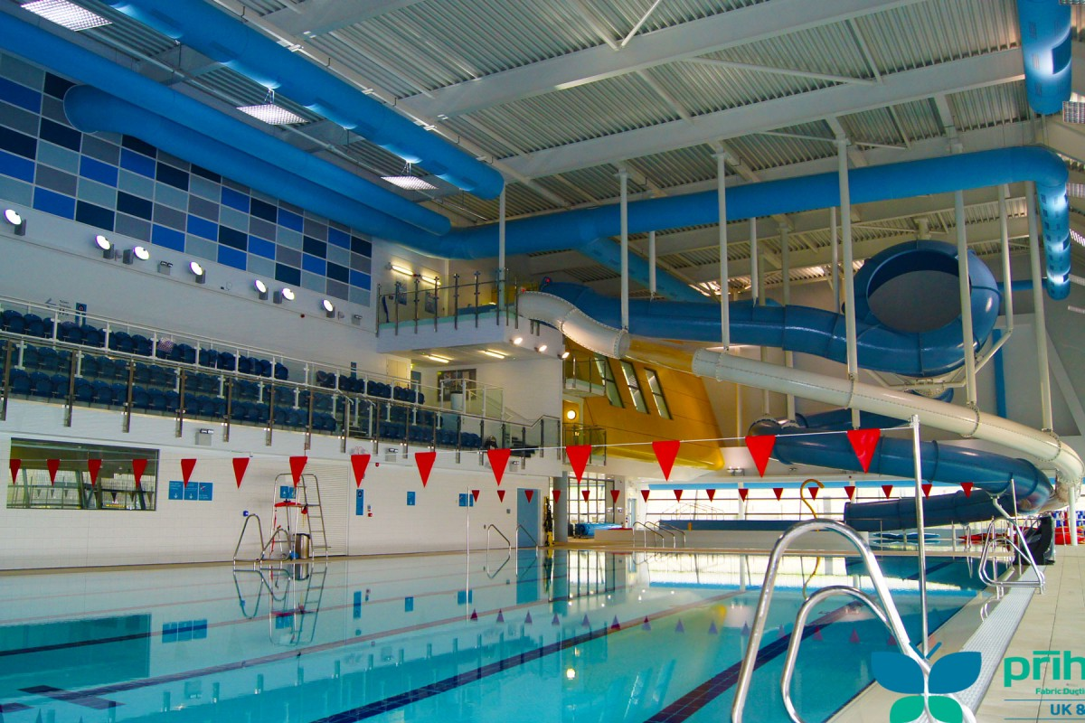 Swimming pool ventilation fabric ducting applications for Pool ventilation design