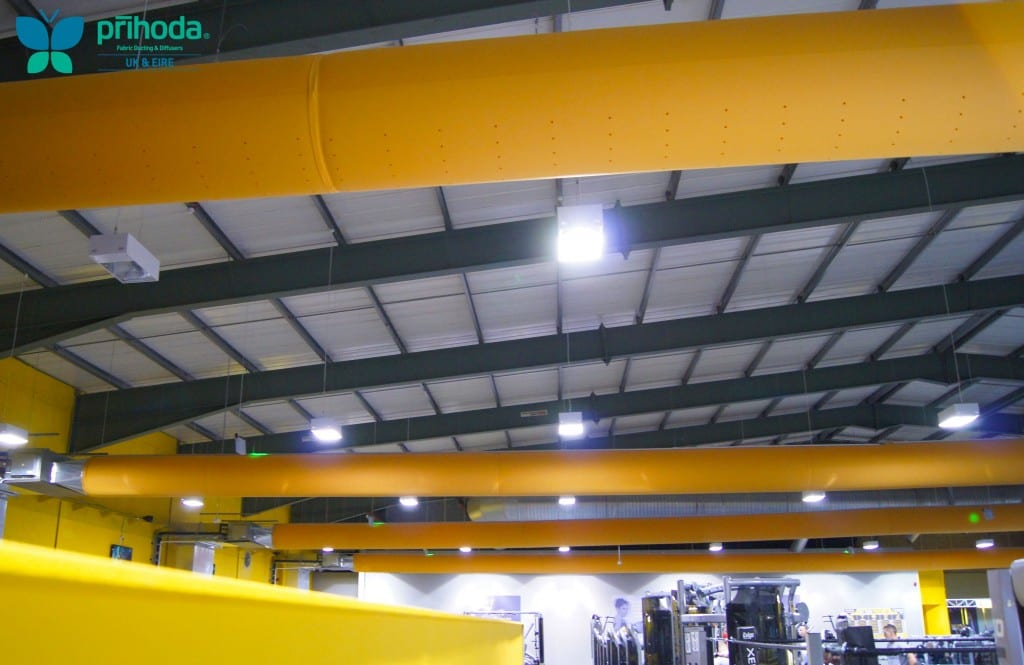 gym fabric ducting