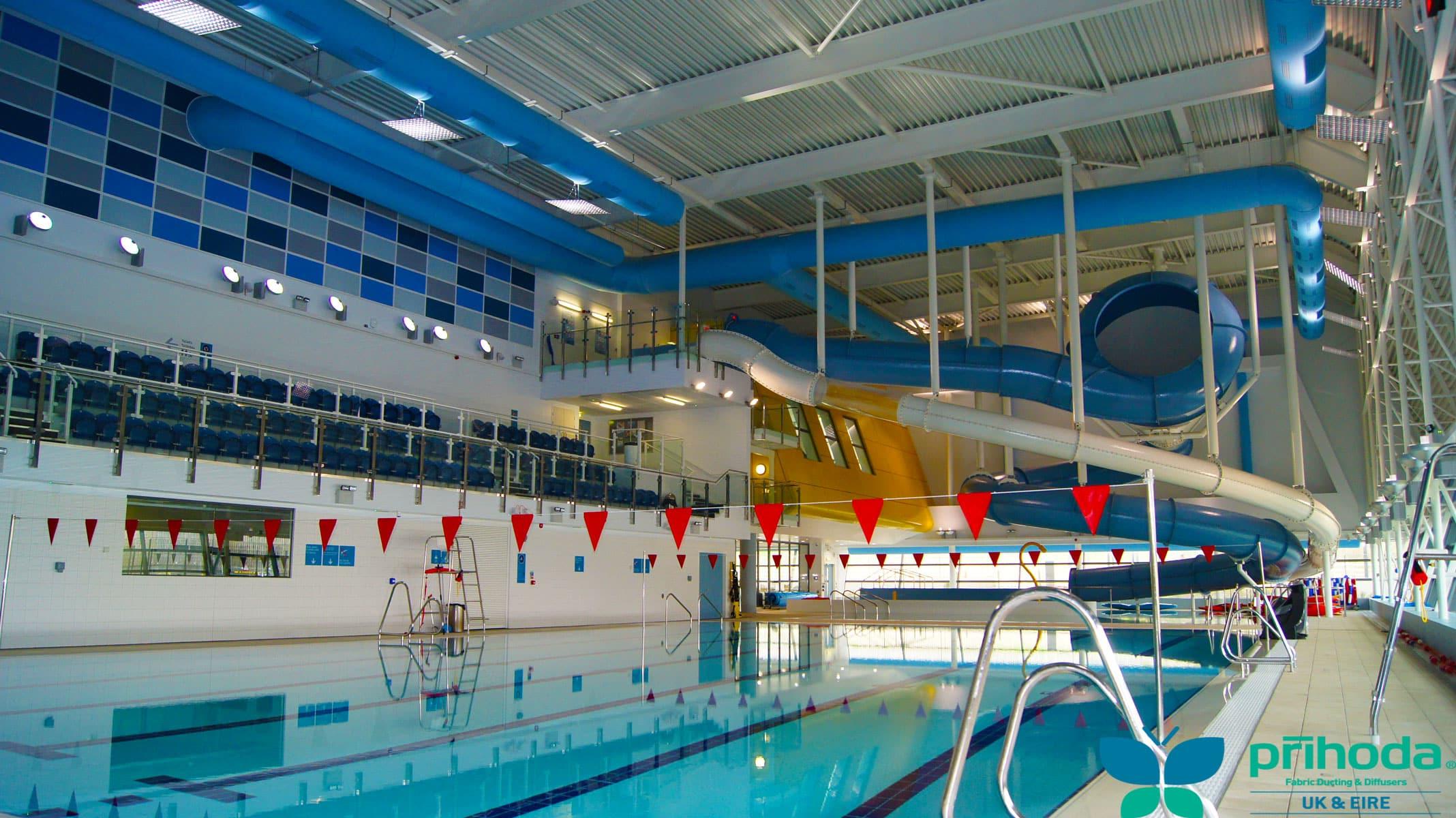swimming pool ventilation over pool