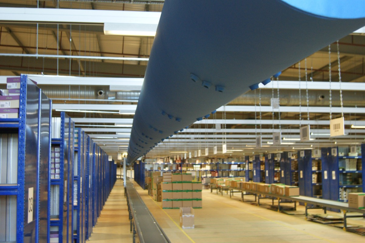 Clarks shoes Distribution warehouse Fabric Ducting