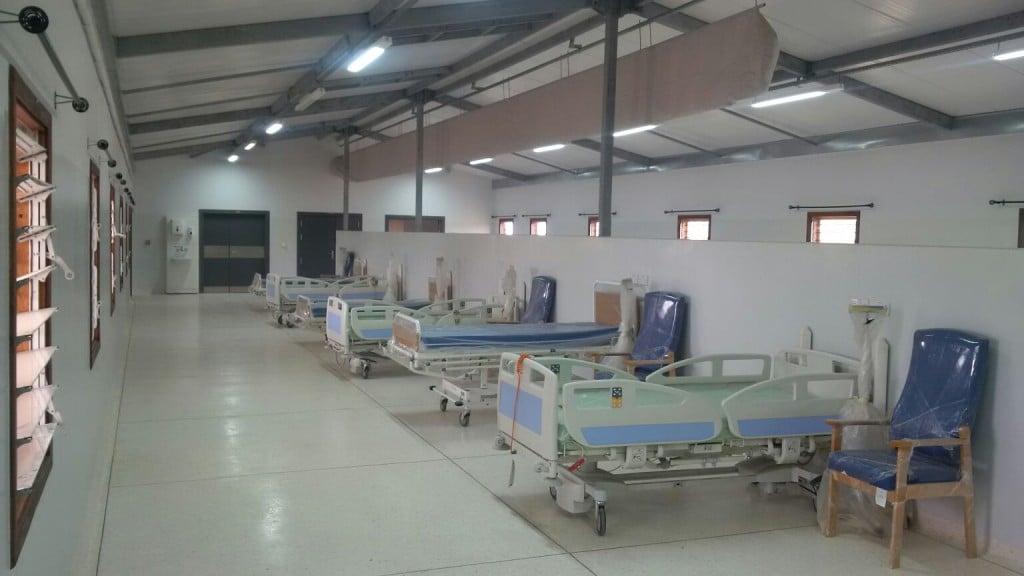 fabric ducting in hospital ward at dodowa