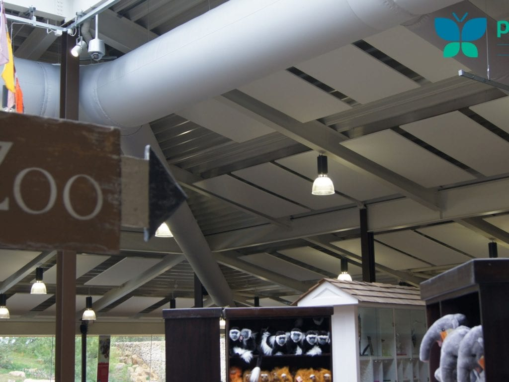 close picture showing white ducting at twycross