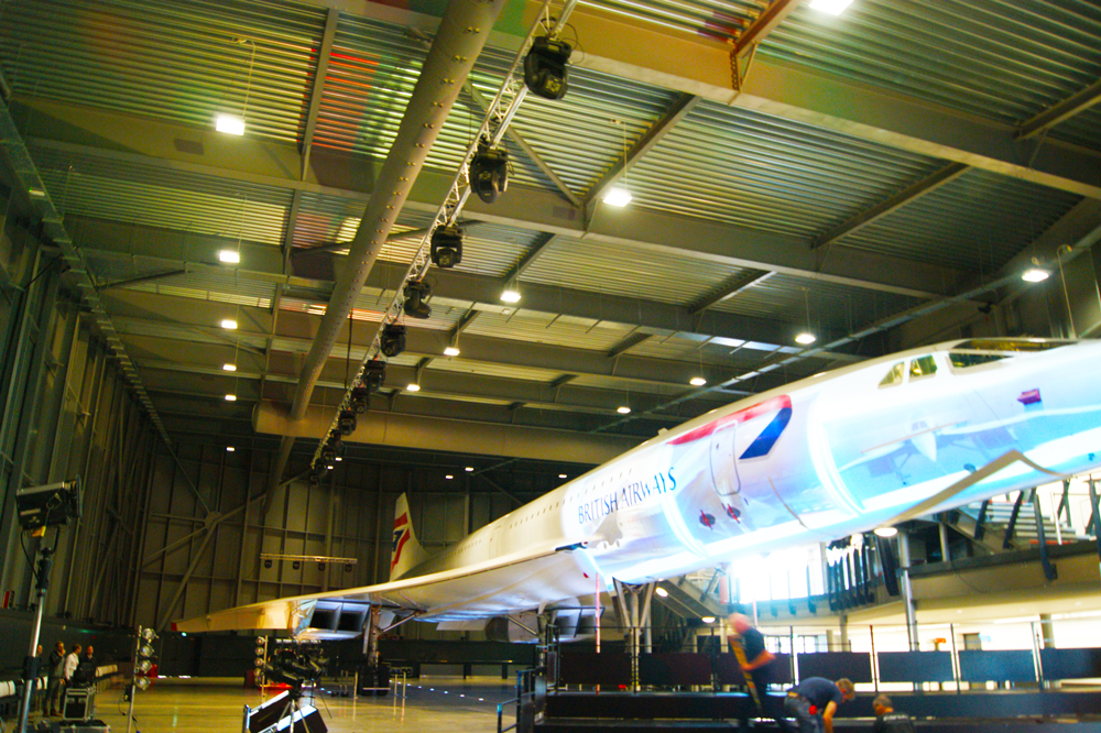 air diffusers above British Airways Concorde plane at aerospace Bristol