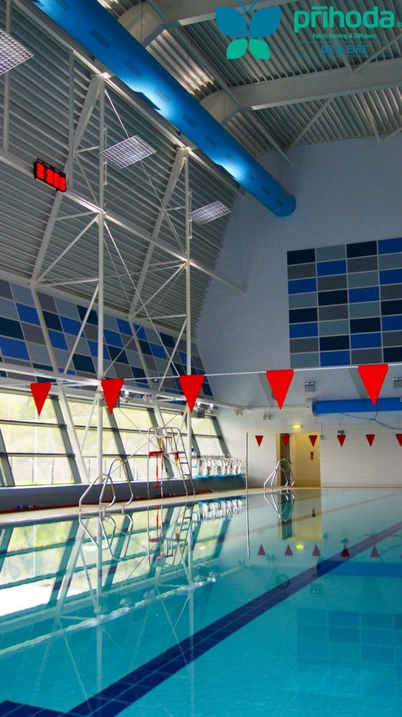fabric ducting at indoor swimming pool