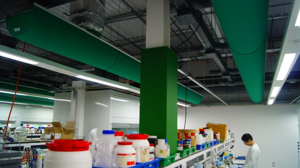 fabric hvac ducts in laboratory at university of york