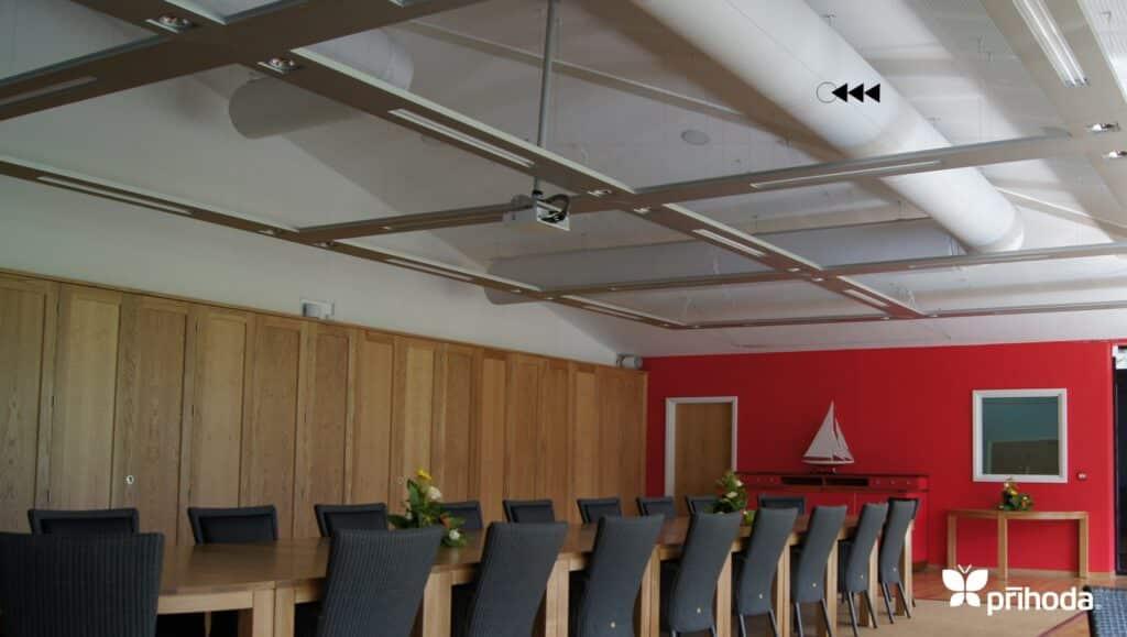 office fabric ducting in situ