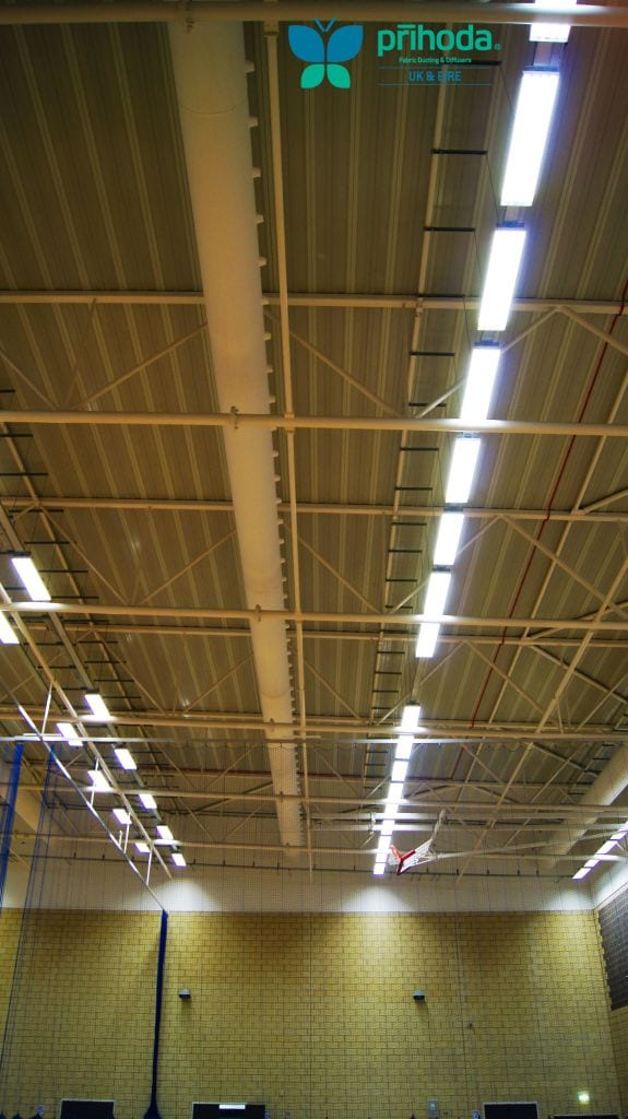 high ceilings with ventilation pipes