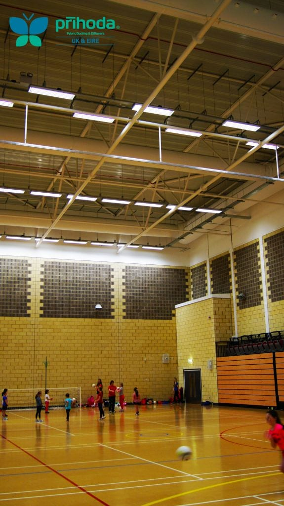 sports hall in a school