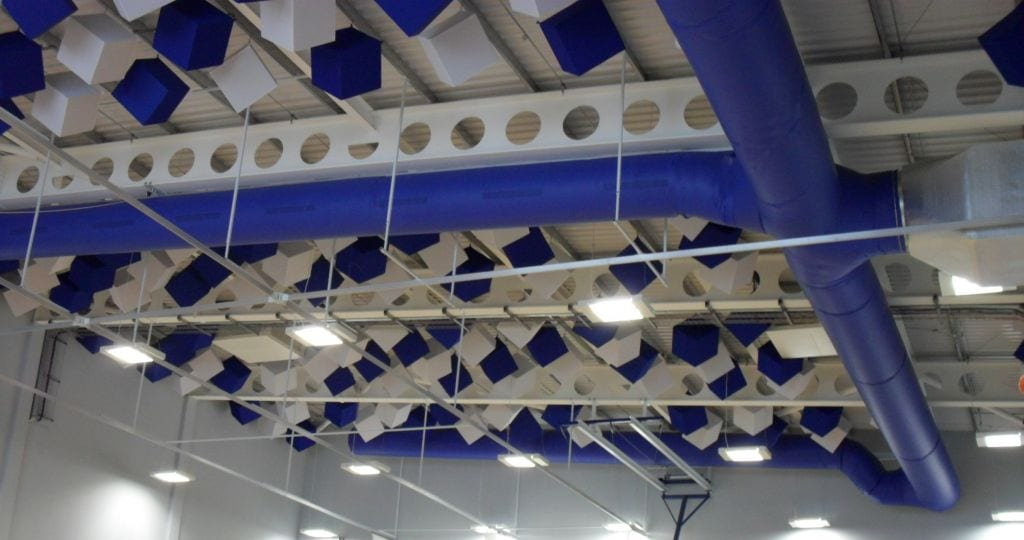 sports hall decorative ceiling