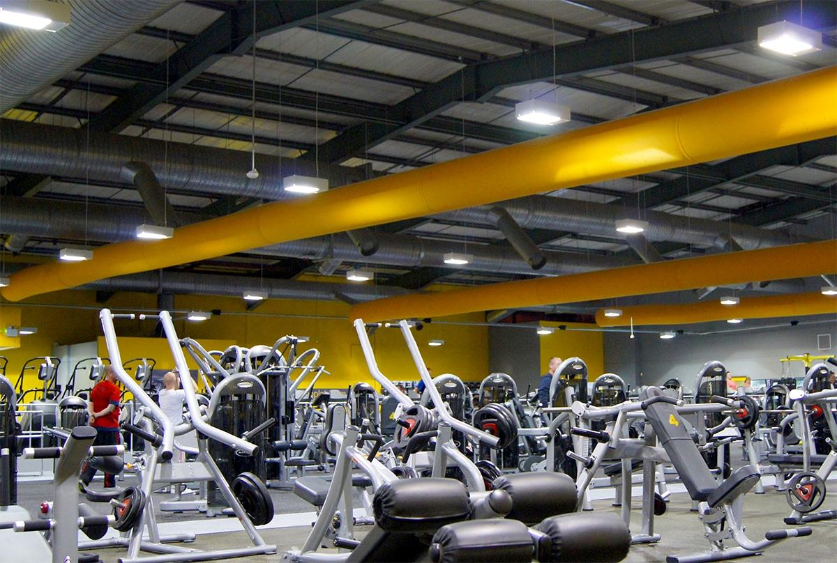 Prihoda fabric ducting in a gym