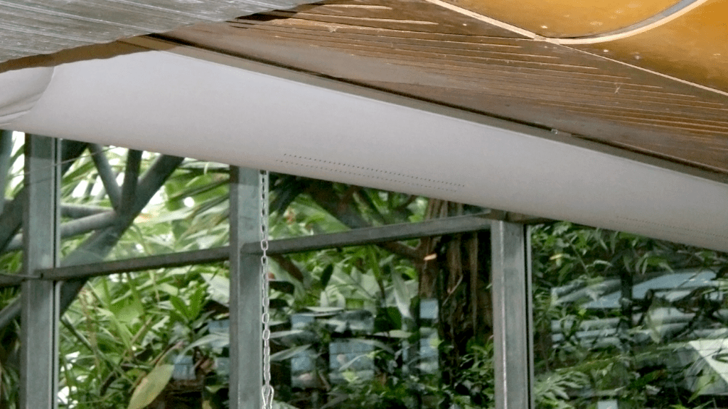Eden Project eco-friendly fabric ducting